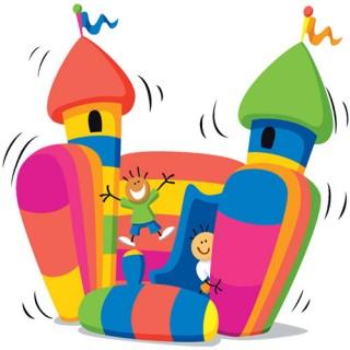 Structure gonflable fête école