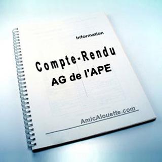 Compte rendu de l'AG de l'APE