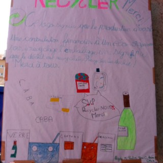 panneau recyclage