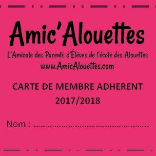carte adhérent 2017-2018