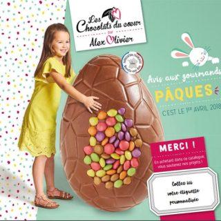Chocolats Pâques 2018