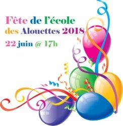 Fête école Alouettes 2018