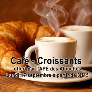 Café croissants APE