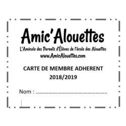 Carte adhérents 2018-19